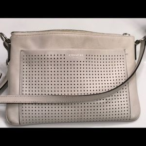 Cosch leather white crossbody purse